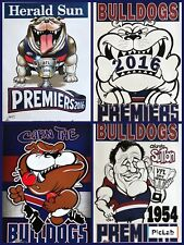 2016 Western Bulldogs Premiers Poster WEG Knight Wegart Supporter Charlie Sutton