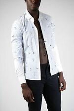 NEIL BARRETT men Shirts Sz M Multicolor Printed Shirt Fitted Slim Fit Multico...