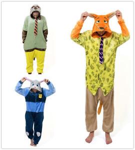 Xmas Nick Judy Sloth Zootopia Onesiee Kigurumi Fancy Costume Pyjama Sleep wear
