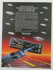 "1988 Technics Cx-Dp10 12-Disc Car Cd Changer ""The Science Of Sound"" Magazine Ad"