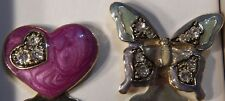 Liz&Co. Liz Claiborne Enamel Rhinestone Butterfly and Heart Bookmarks NIB