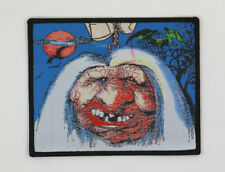 PATCH - Shrunken Head - HORROR, Woven, Iron on - Vincent Price, vintage art