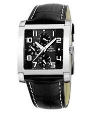 50 m (5 ATM) wasserbeständige Armbanduhren mit Armband aus echtem Leder