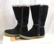 NEW WOMENS SPRING STEP BLACK LEATHER SUEDE WINTER ZIP BOOT SIZE 6 (EU 36)