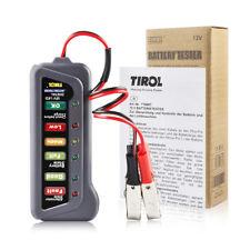 Digital Battery Tester 12V Car Motorcycle 6 LED Display Alternator Load Vehicle