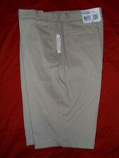 Nwt ~ Izod® Flat Front Khaki Shorts (Uniform) - Boys size 18.5 Plus Msrp $24