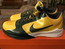 7e422279a3b8 Nike 2009 Zoom Kobe V 5 Rice High School Edition Maize 386429-700 Size 13