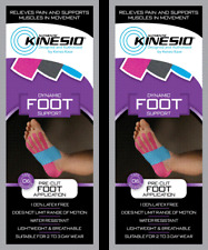 KINESIO Pre Cut Tape - PACK OF 2. For FOOT injuries & support. FREE POST