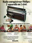 Publicité advertising 1972 Le Transistor Radio Enrengistreur Philips