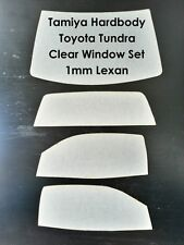 2017 NEW Clear Lexan Windows for Tamiya Toyota Tundra 1/10 Scale Offroad RC4WD
