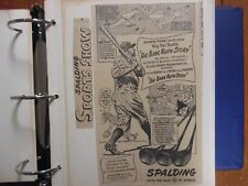 Album/Sporting News 140 Ads/BABE RUTH/MICKEY MANTLE/DiMaggio -BAT, GLOVE Ads etc