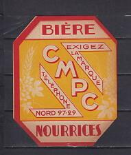 A149  Ancienne étiquette Bière Alcool France Brasserie Cmpc  A1