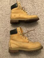 Timberland Boots Men Wheat 6 Inch. 10061 Authentic Size 7.5M. Leather/Waterproof