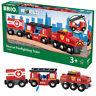 BRIO World 33844 Rescue Fire Fighting Train for Wooden Train Set