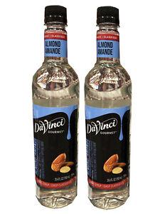 Davinci Gourmet Almond Amande Beverage Syrup 750 Ml Certified Kosher 2 Pack