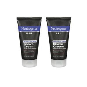 2 NEUTROGENA MEN Sensitive Skin SHAVE CREAM Pro-Soothe Shaving 5.1 Fl Oz *NEW*