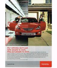 2005 Toyota Solara Red Vtg Print Ad