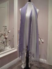 Original Hemisphäre Halstuch Tuch Schal Modal 97x180 weiß lila Neuwertig!