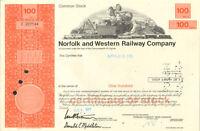 Norfolk and Western Railway > Virginia stock certificate N&W Southern