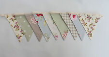 farmhouse vintage floral shabby chic contemporary double sided fabric bunting