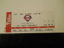 1993 Philadelphia Phillies vs. St. Louis Cardinals Ticket Stub (SKU1)
