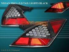 FIT 2003 2004 2005 350Z Z FAIRLADY TAIL LIGHTS BLACK