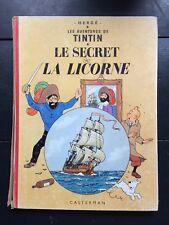 Tintin album: Le secret de la licorne 1963