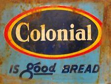 "TIN SIGN ""Colonial Bread"" Food Art Deco Garage Wall Decor"