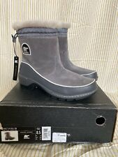 NIB Sorel Women's Tivoli III Pull On Boot Gray 8.5 US Fleece Fur Lined