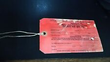 1960's + OE VW DEALER OPTION ACCESSORY MOTOROLA RADIO TAG 7SMV - TYPE 1 2 3 4
