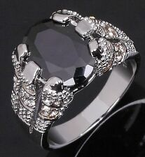 Fashion Size 9 Jewelry Sapphire 10K Gold Filled Round Cut Luxury Rings For Men
