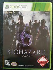 Biohazard 6 Resident Evil Japanese Xbox 360 Capcom