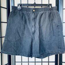 Vintage Ocean Pacific OP Longrider Black Shorts Size XL 100% Cotton