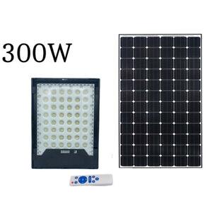 Faro led solare 300W luce fredda proiettore led rgb indicatore carica esterno