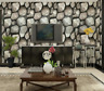 3D SLATE WALL STICKY BACK PVC SELF ADHESIVE WALLPAPER GREY STONE VINTAGE BRICK