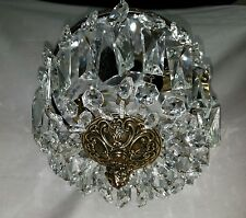 Vintage Flush Mount French Basket Style Crystal Light