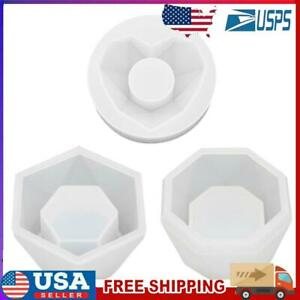 Cement Clay Mold for Flower Pot Making Handmade Concrete Planter Silicone Molds