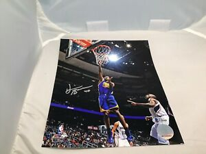 Harrison Barnes Signed Golden State Warriors 8x10 Photo Auto. Beckett BAS COA 1A