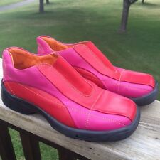 Shoe Be Doo Girls Sz EUR 33 Leather Loafers Pink Red Slip On Italy Shoes