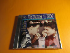 THOSE WONDERFUL YEARS BECAUSE OF YOU  MEL TORME FRANKIE LAINE CD New