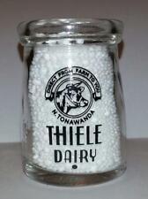 Very Nice Thiele Dairy 3/4 oz. Glass Creamer Bottle N Tonawanda, N Y