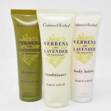 Crabtree & Evelyn Verbena Lavender De Provence Shampoo Conditioner Body Lotion