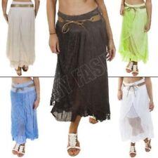 Grey Cotton Plus Size Skirts for Women