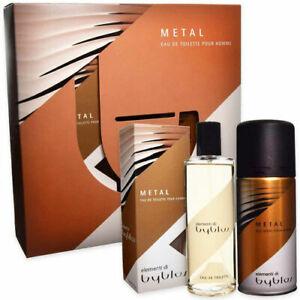 Confezione Regalo BYBLOS METAL Profumo Uomo EDT 120ml + Deodorante Spray 150ml