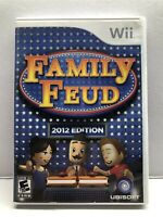 Family Feud -- 2012 Edition (Nintendo Wii) Complete w/ Manual - Tested Free Ship