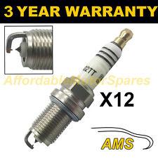 12X doppio Iridium Spark Plugs per Mercedes Benz Classe S S600 2005 in poi