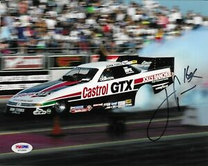 John Force Signed 8X10 Autographed PSA/DNA COA NHRA Funny Car X71563