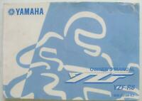 YAMAHA YZF-R6 #5EB-28199-E2 1999 Motorcycle Owners Handbook