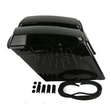 "Vivid Black 5"" Stretched Extended Hard Saddlebags Fit For Harley Touring 1993-13"