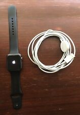 Apple Watch 42mm Space Gray Aluminum Gen1 Black Sport Band New Screen & Battery